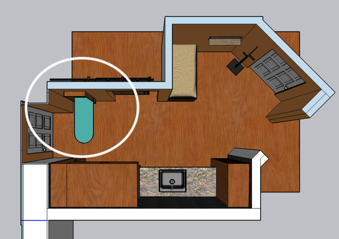 Birds eye view of laundry and mudroom. More details in description.